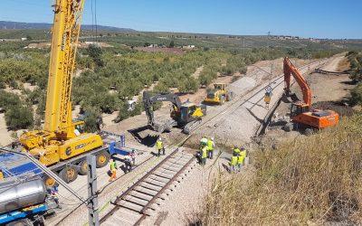 ADIF avanza en las obras de reparación y mejora de la línea entre Espeluy y Córdoba
