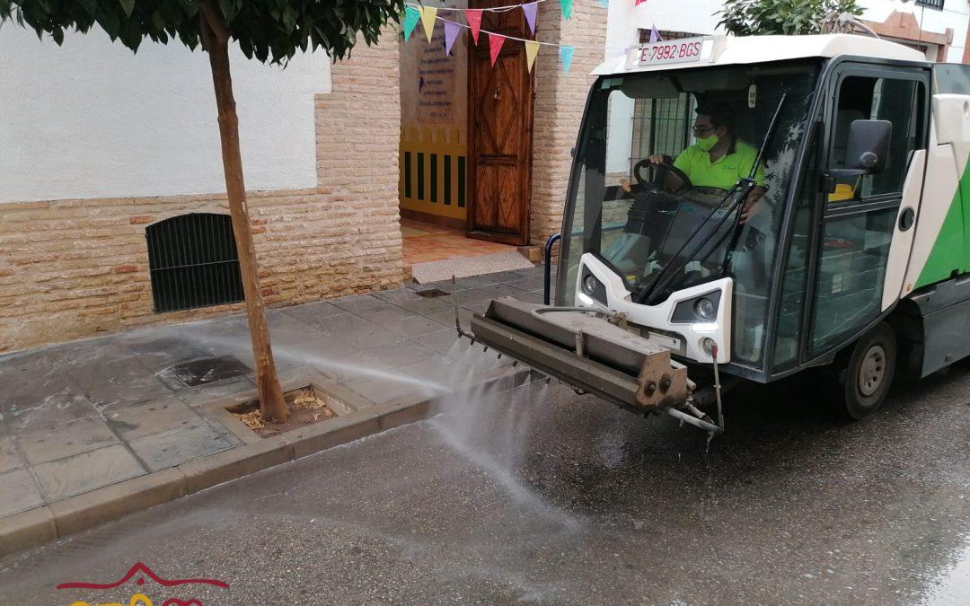 Chequeo al dispositivo para hacer frente al COVID en Andújar