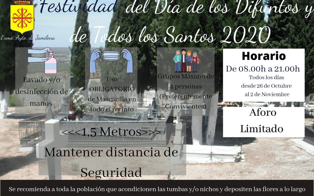 El Cementerio Municipal de Jamilena limita su aforo a 450 personas