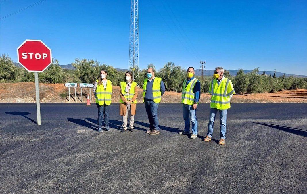Obras de mejora en la A-420 entre Marmolejo y Cardeña
