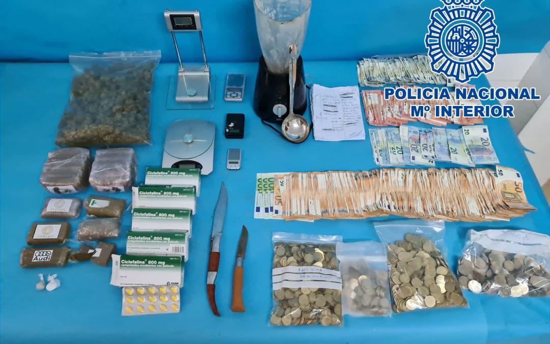 La Policía Nacional detiene en Linares a cuatro personas por tráfico ilegal de drogas