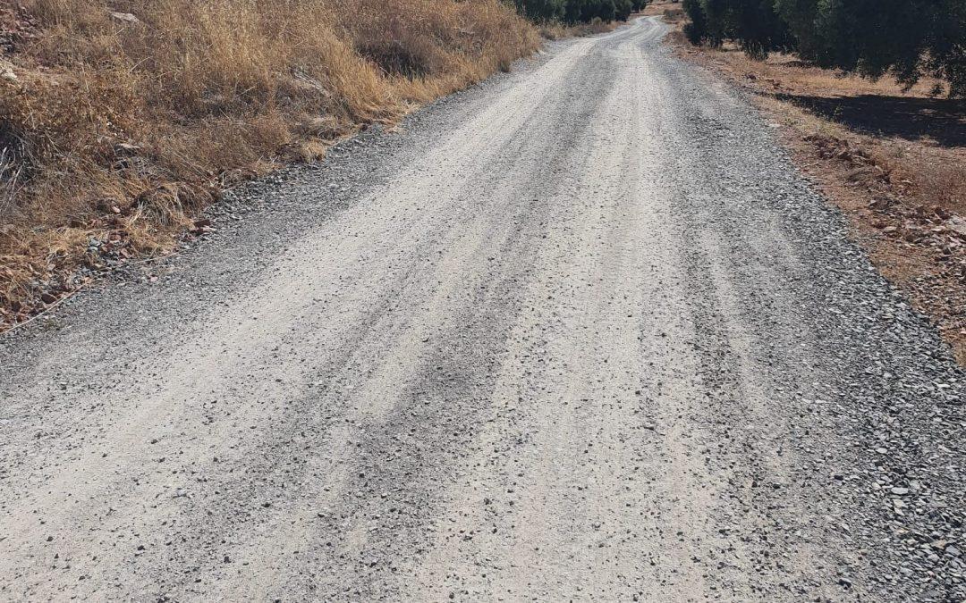 Los caminos rurales de Castillo de Locubín, preparados para la campaña de la aceituna