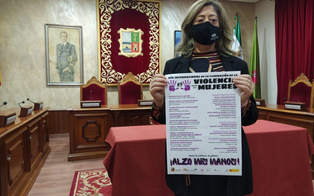 Marmolejo se iluminará contra la Violencia de Género