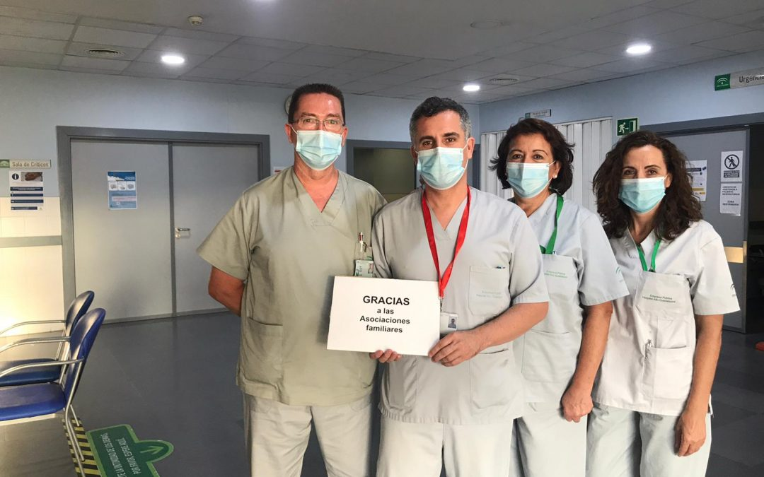 El hospital de Andújar devuelve su gratitud a quienes han colaborado y donado algo de ayuda durante esta pandemia