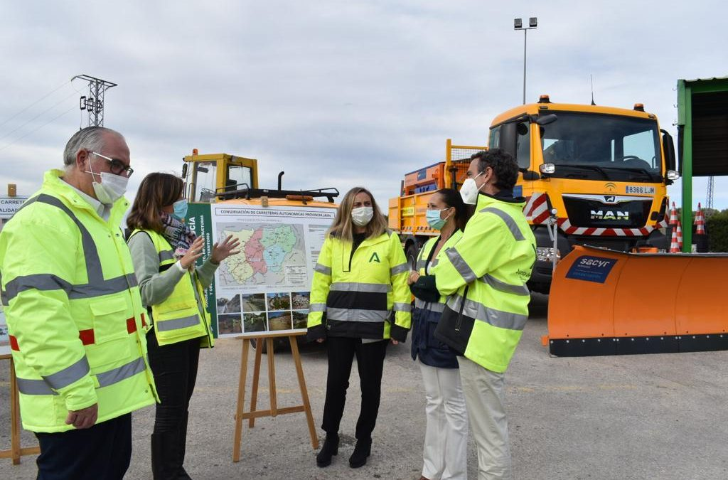 Presentan el centro de conservación de Jamilena el plan para hacer frente al invierno en las carreteras de la provincia