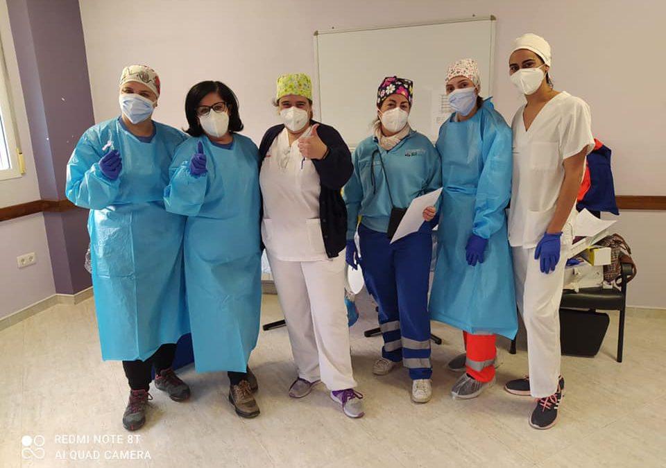 Éxito de la campaña de vacunación en la residencia de Castillo de Locubín