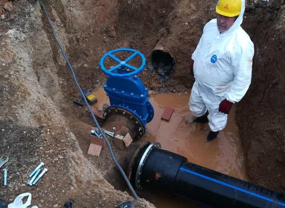 Andújar mejora sus acerados y las redes de suministro de agua y alcantarillado
