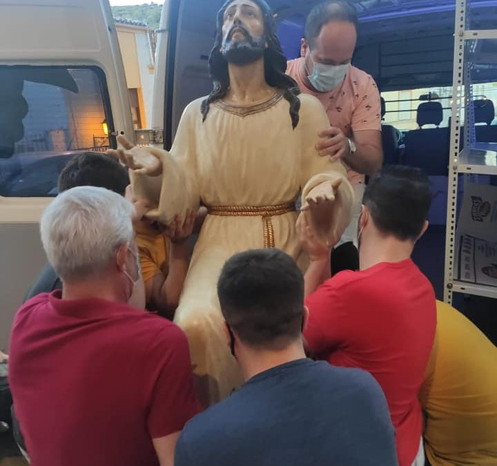 Regreso a Martos de la imagen de Jesús de la Oración