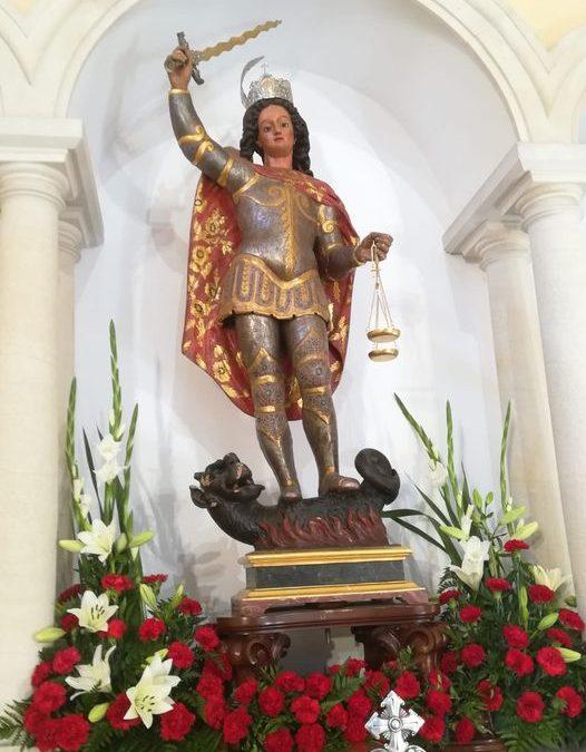 Intervención de la imagen y la ermita de San Miguel de Martos
