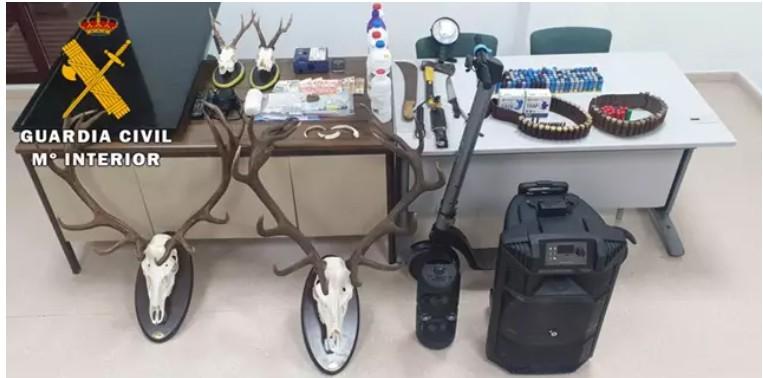 La Guardia Civil detiene a dos personas en La Carolina que regentaban una 'narco-sala'