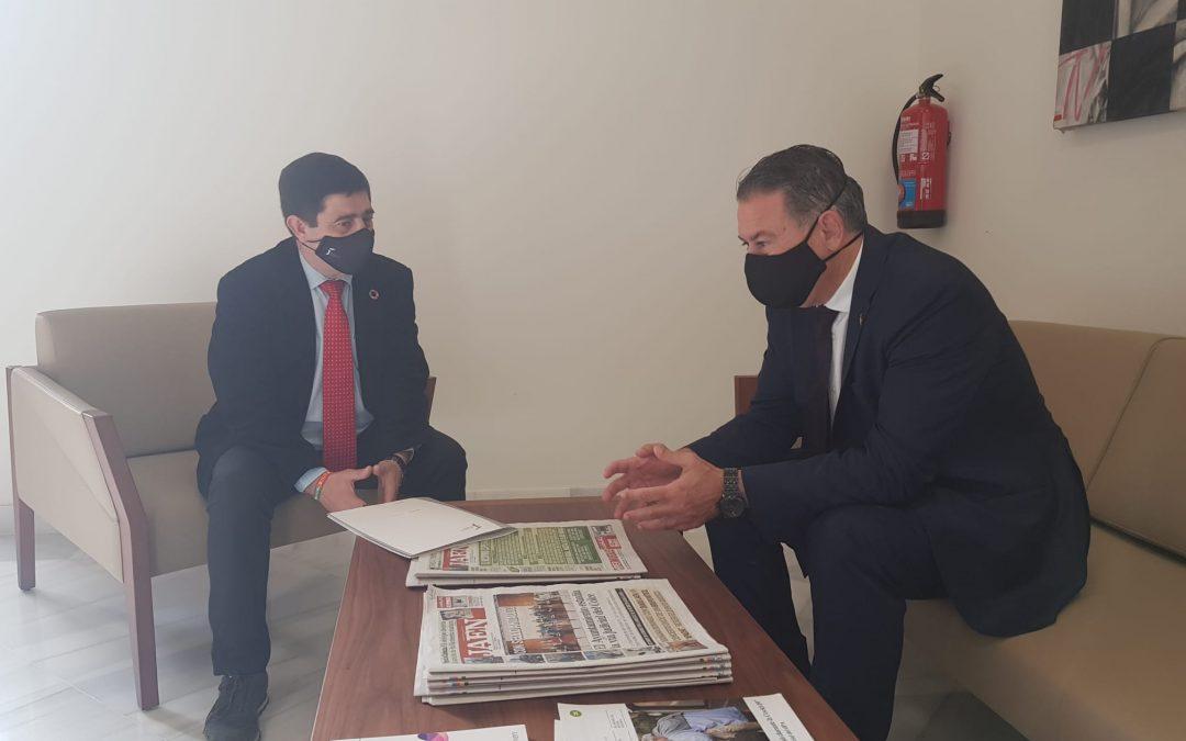 Diputación se implicará con la oficina de gestión del Parque de Santana en Linares
