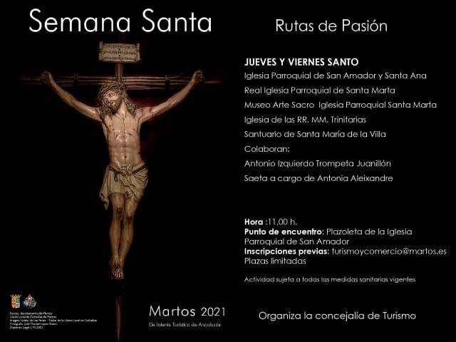 El Ayuntamiento organiza visitas guiadas a los templos de Martos con motivo de la Semana Santa