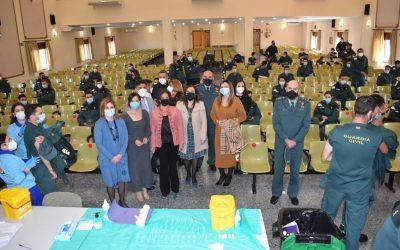 Vacunación en la Academia de la Guardia Civil de Baeza