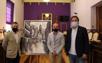 El pintor José Domínguez dona un cuadro a la ciudad de Jaén