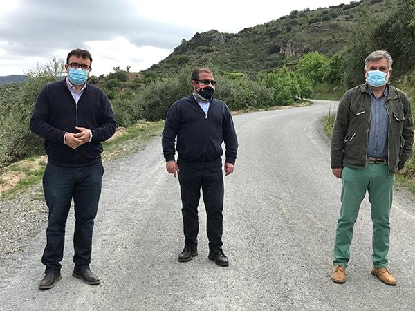 La Diputación ha invertido 62.500 euros en la reparación del camino rural La Nava, en Castillo de Locubín