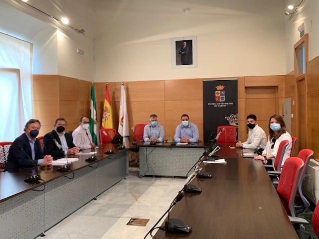 El Ayuntamiento aborda con el tejido empresarial el proyecto de ampliación de suelo industrial de Martos