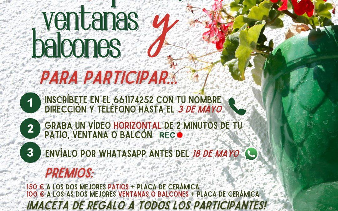 Quinta edición del Concurso de Patios, Ventanas y Balcones