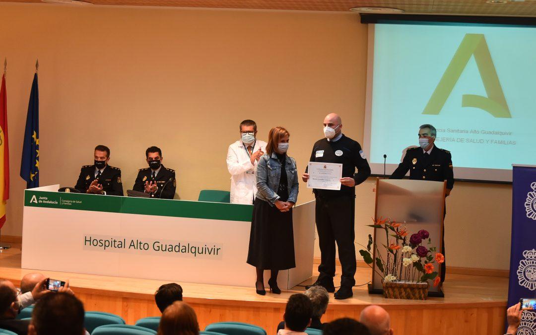 Homenaje a los vigilantes de seguridad del Hospital Alto Guadalquivir
