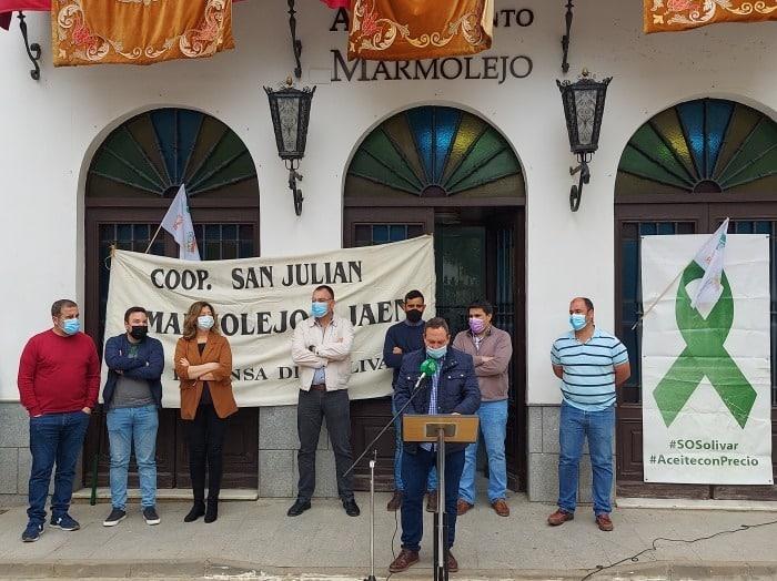 Marmolejo se suma a las reivindicaciones del sector olivarero