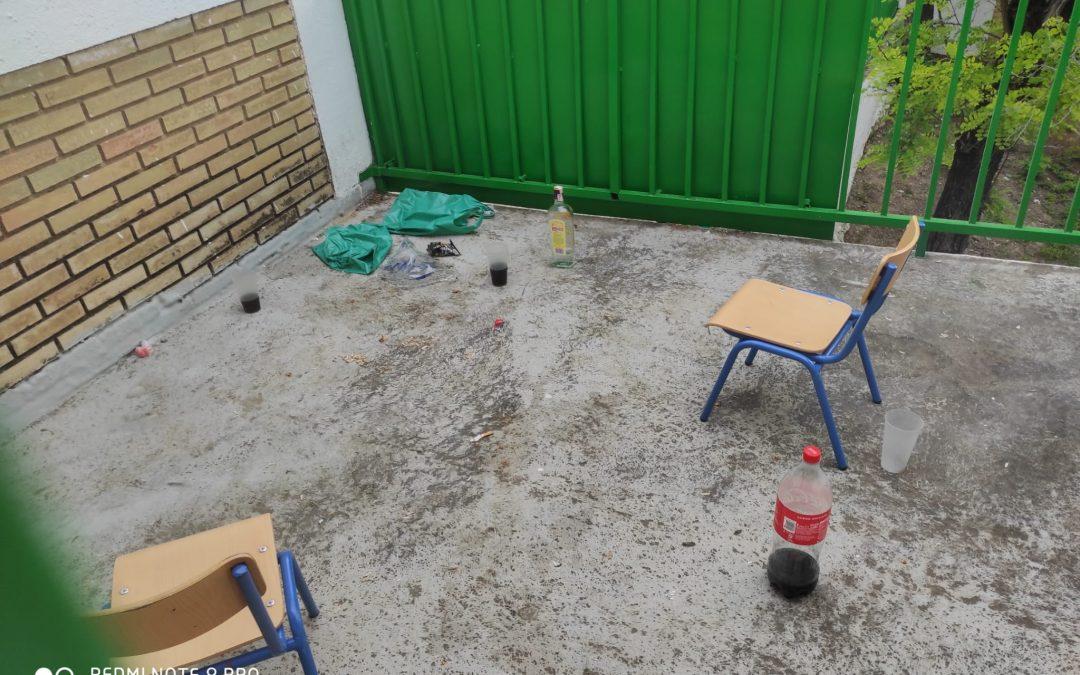 La Policía Local investiga botellones nocturnos en el CEIP Padre Rejas