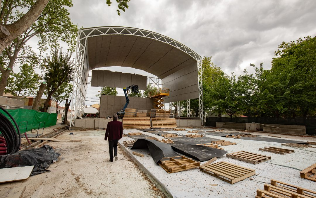 Avanza a buen ritmo la nueva Caseta Municipal de Alcaudete