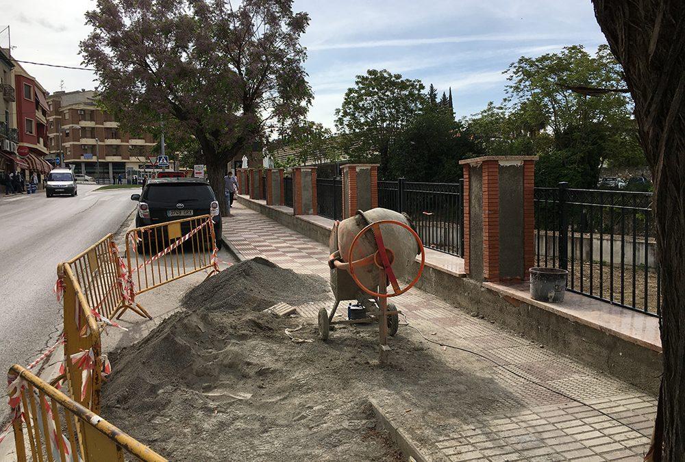Obras para la mejora del pavimento en Los Zagales