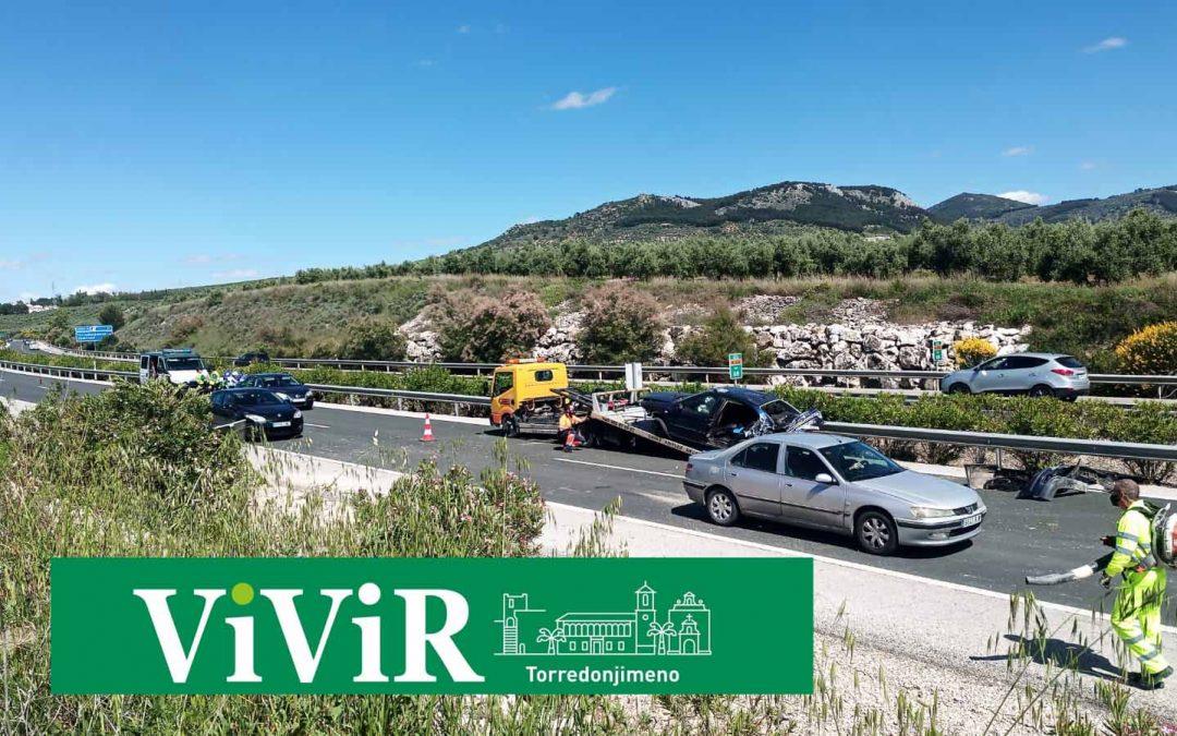 Un accidente con heridos provoca retenciones en la autovía A-316 hacia Martos