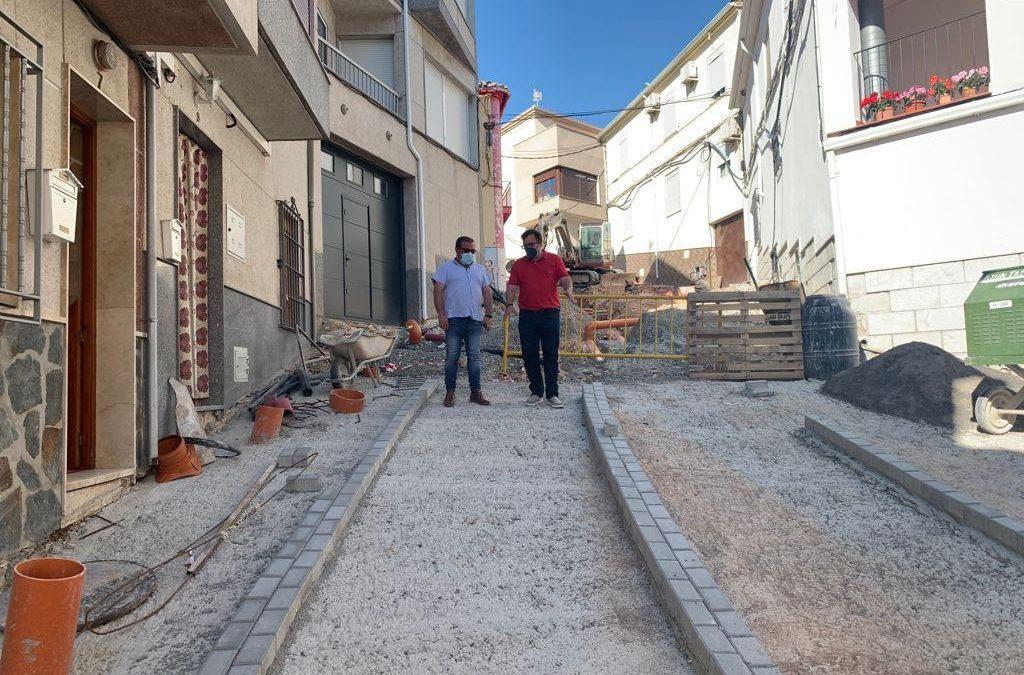 Renovación del pavimento y el alcantarillado de la calle Las Eras