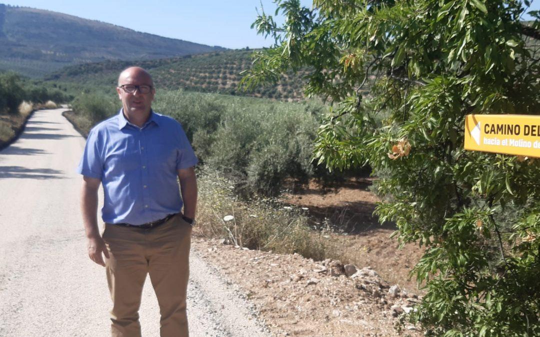 El Ayuntamiento acondiciona el camino hacia el Molino del Cubo con 30.000 euros de inversión