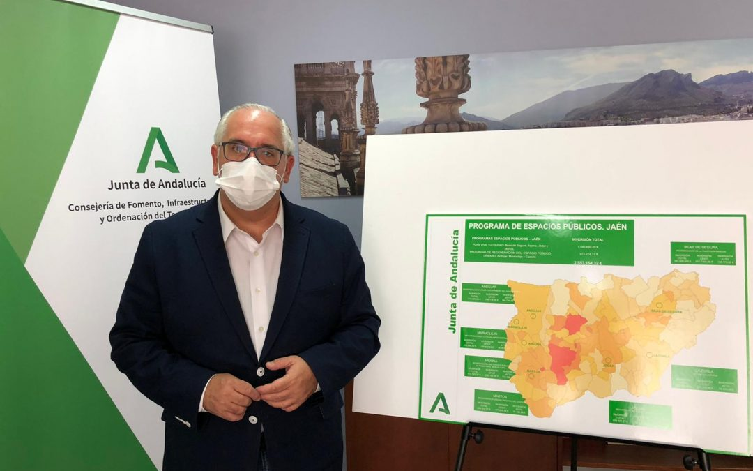 Fomento invierte 2,5 millones en la mejora de espacios públicos de siete municipios de Jaén