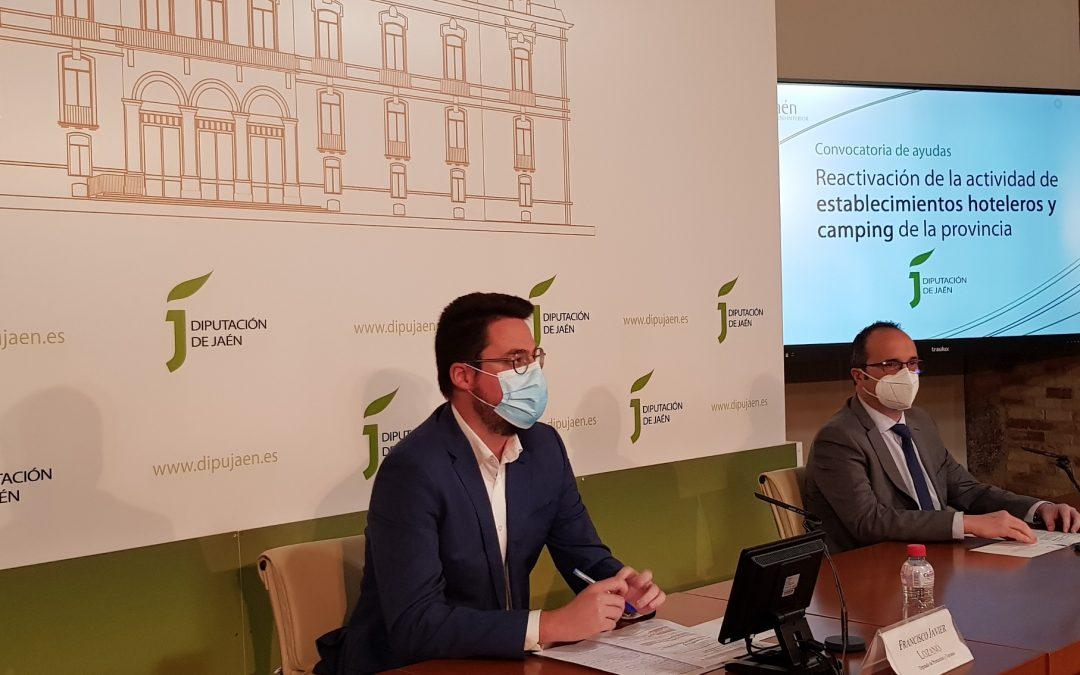 Diputación apoya la reactivación económica de hoteles y camping de la provincia