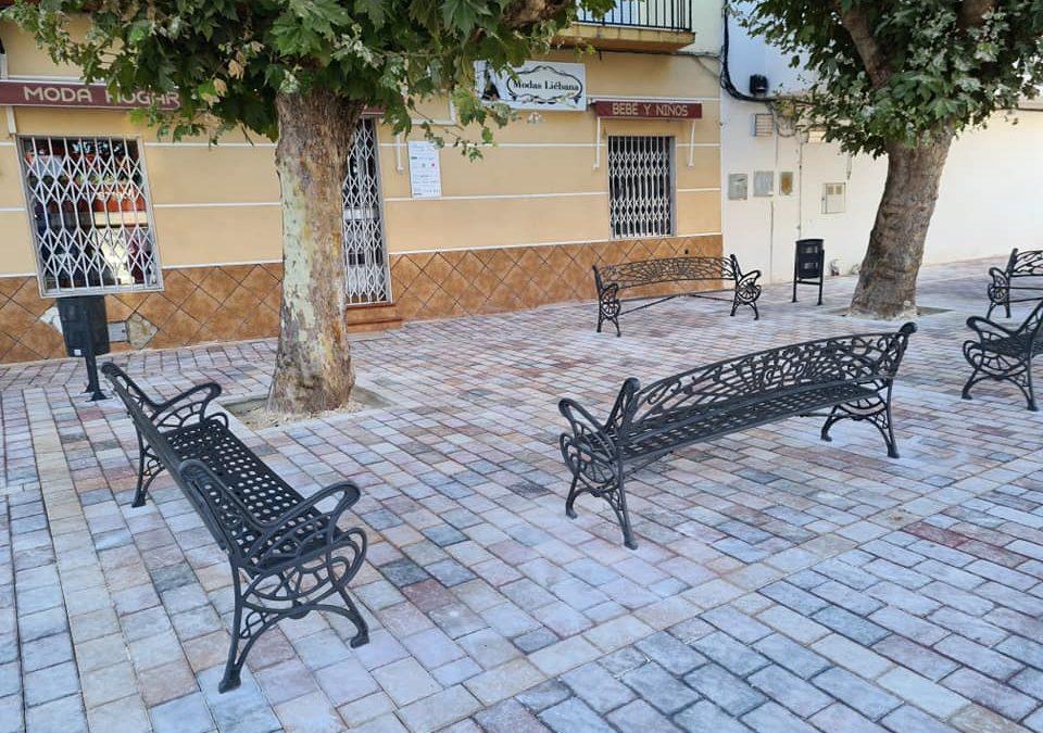 Concluidas las obras en la Plaza del Mercado de Abastos de Jamilena