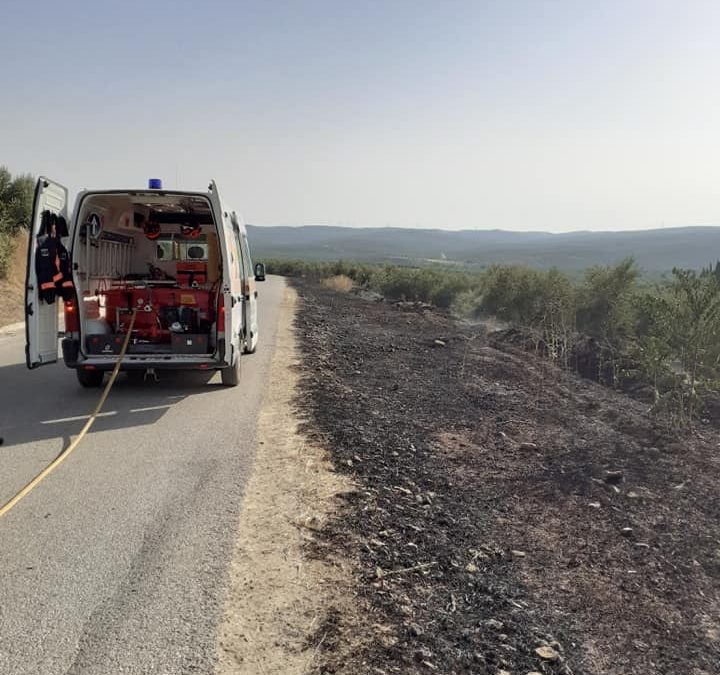 Conato de incendio en la carretera JV- 2930