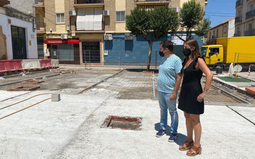 La obra de la Plaza de Blas Infante avanza a buen ritmo