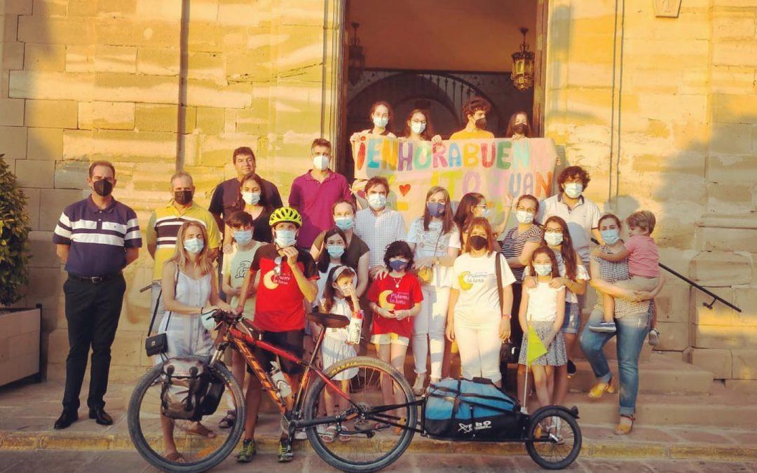 El jiennense Juan Merino concluye su particular y solidaria Vuelta a Andalucía en bicicleta