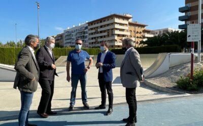 El Ayuntamiento de Jaén lleva a cabo mejoras en la iluminación del Skate Park del Bulevar