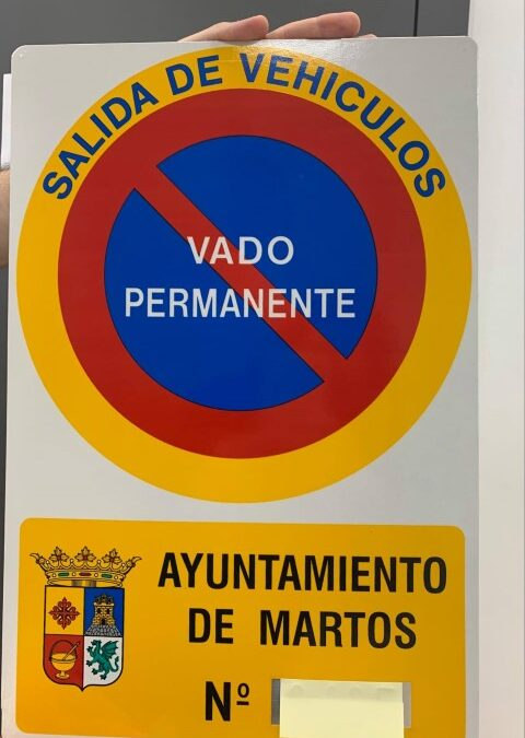 Martos ya ha regularizado el 60% de los vados de aparcamiento