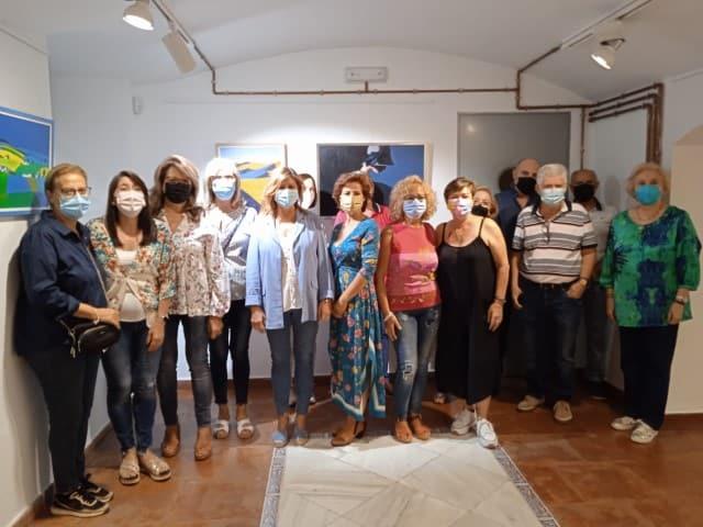 Exposición de las obras de los alumnos de la Escuela Municipal de Pintura
