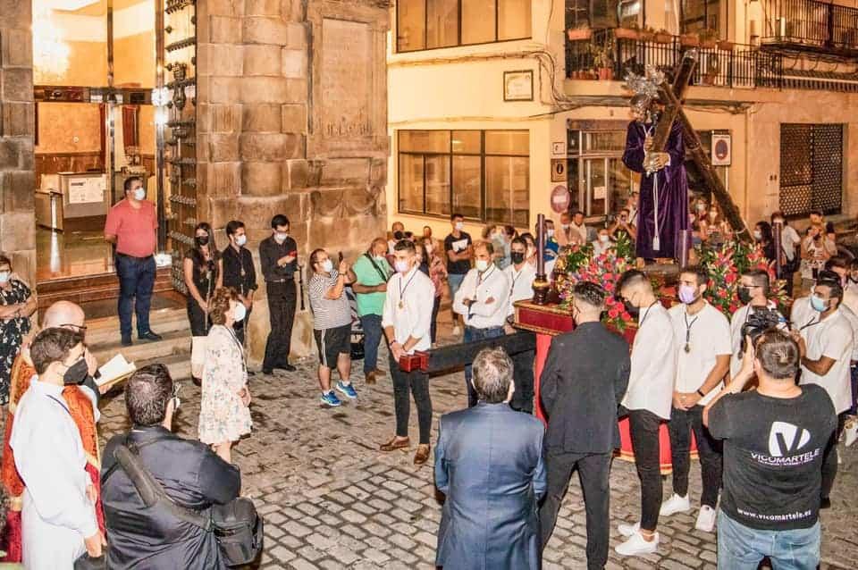 Primera procesión en Martos tras la pandemia