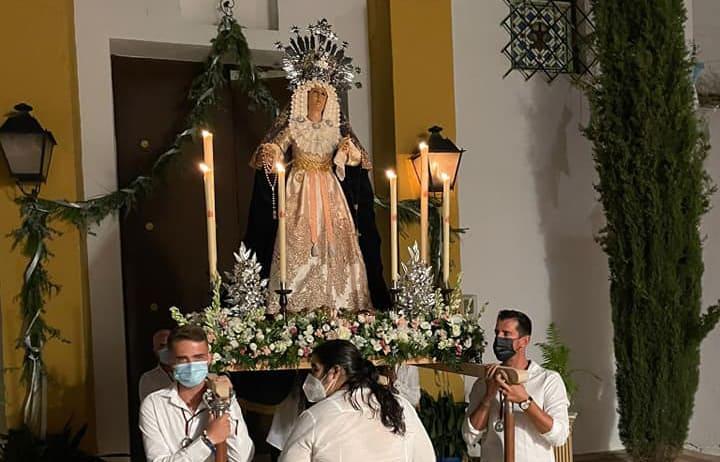 La Virgen de los Dolores de La Ropera, primera procesión en las calles de Andújar