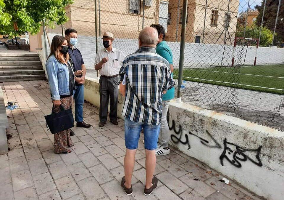 Encuentro con los vecinos del barrio de La Paz