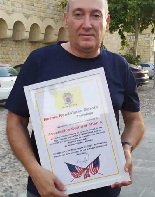 """Nuevos reconocimientos para la asociación cultural """"Alien's"""" de Alcaudete"""