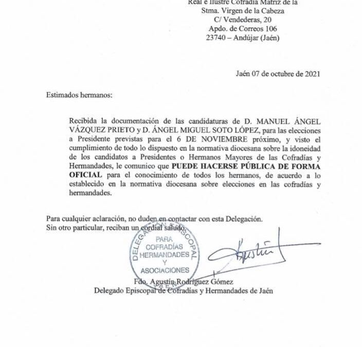 Dos candidaturas se presentan a la presidencia de la Matriz
