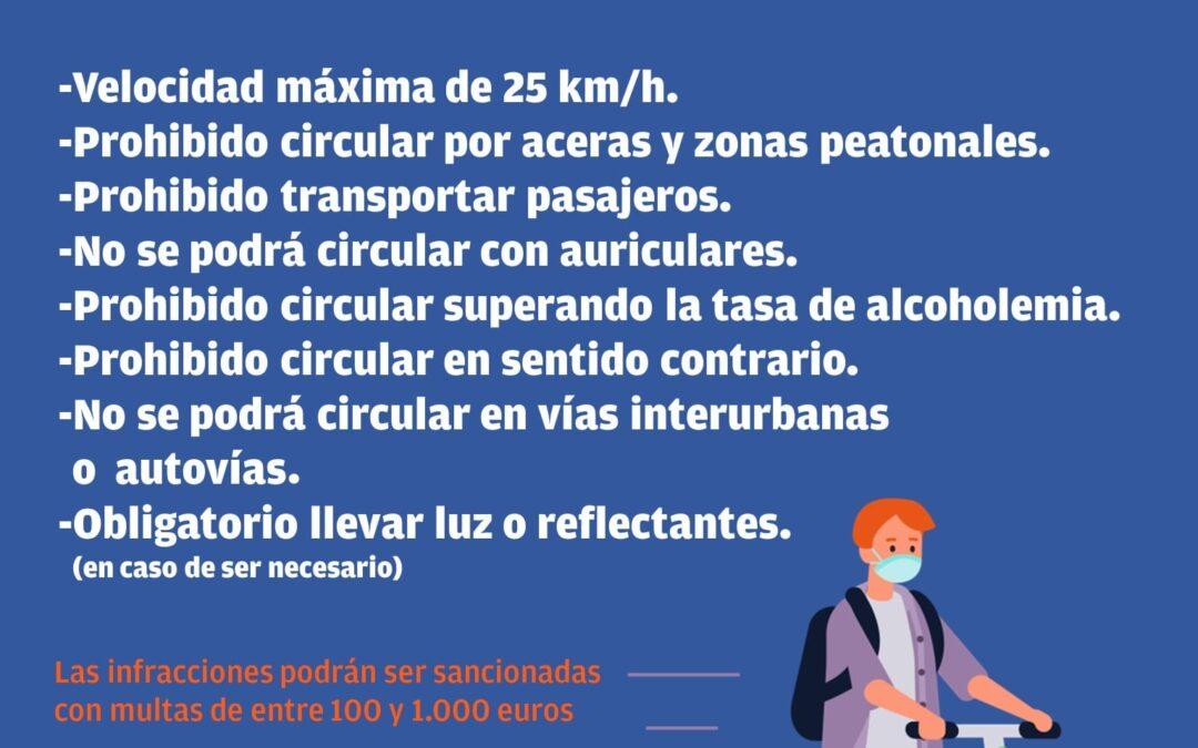 La ordenanza municipal de tráfico regula la circulación y el uso de patinetes eléctricos en Andújar