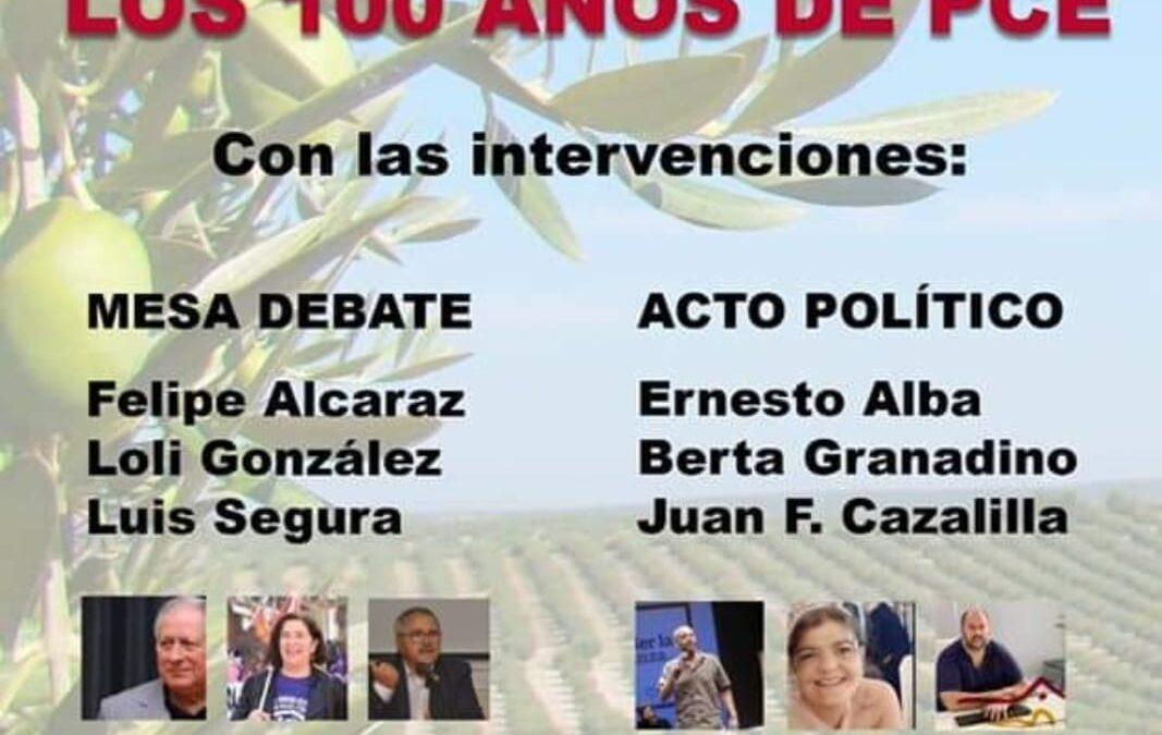 Acto en Torredonjimeno con motivo del centenario del PCE